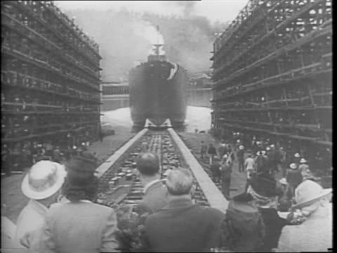 masts of the ss st olaf decorated with international flags / crown princess martha of norway standing in front of a crowd holding a large bouquet /... - blouse stock videos and b-roll footage