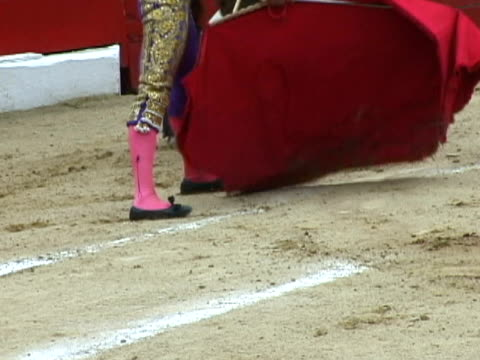cu, matador fighting bull, low section, tijuana, mexico - stage costume stock videos & royalty-free footage