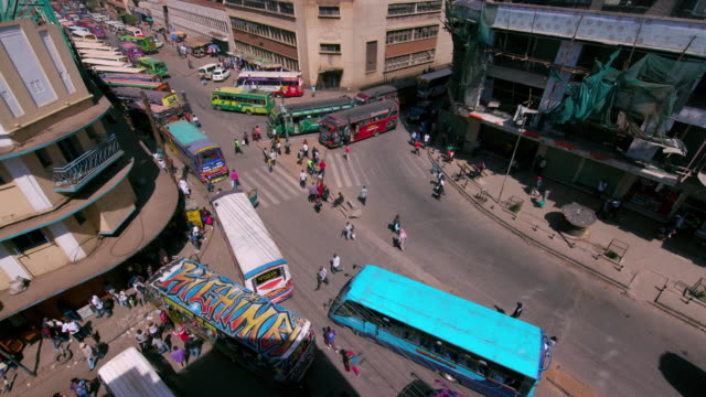 matatus at main stage bus station ronald ngala street, nairobi, kenya, africa - kenya stock videos & royalty-free footage