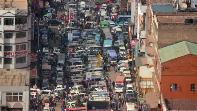 matatus on accra road nairobi  kenya  africa - nairobi stock videos and b-roll footage