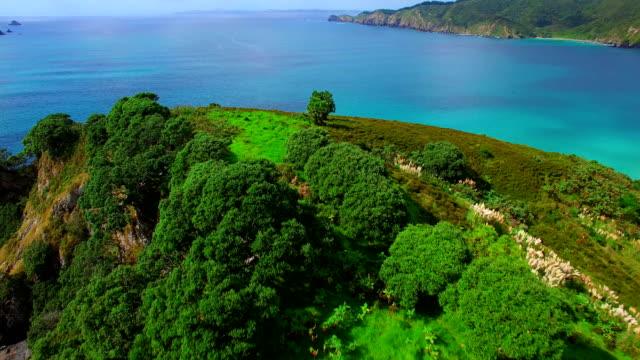 stockvideo's en b-roll-footage met matauri bay - bay of islands nieuw zeeland