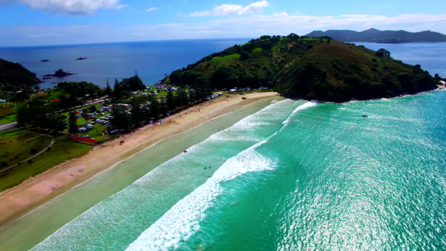 vidéos et rushes de matauri bay - bay of islands nouvelle zélande