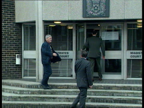 committal hearings itn england hants eastleigh magistrates court tms bruce grobbelaar another along twds courthouse ms grobbelaar lawyer twds... - cravat stock videos and b-roll footage