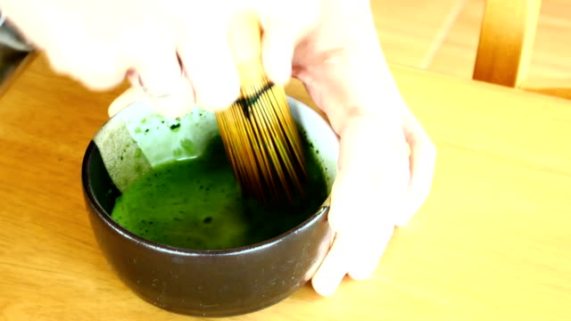 matcha green tea - tea cup stock videos and b-roll footage