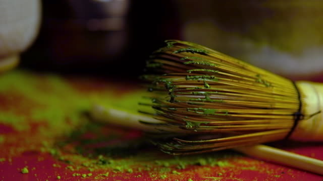 matcha tea  close-up - todchamp stock videos and b-roll footage