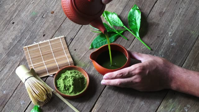 matcha tea - antioxidant stock videos & royalty-free footage