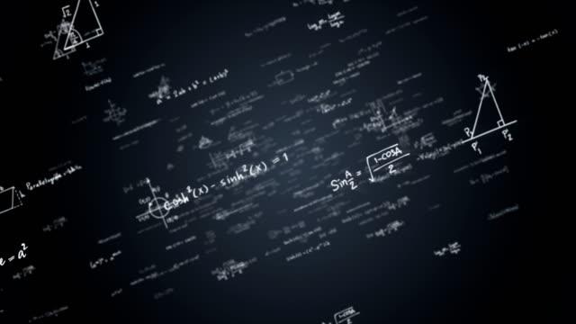 Matematik formülleri ile loopable arka plan