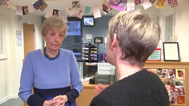 report recommends giving pregnant women personal budgets for maternity care; london: reporter talking to baroness julia cumberlege baroness julia... - baroness stock videos & royalty-free footage