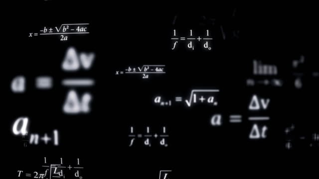 math formulas background (loopable) - calculating stock videos & royalty-free footage