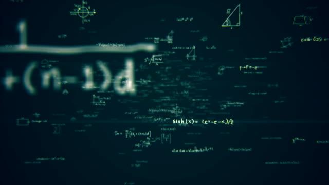 math formulas loop - mathematics stock videos & royalty-free footage