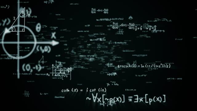 ciclo formule matematiche - moltiplicazione video stock e b–roll