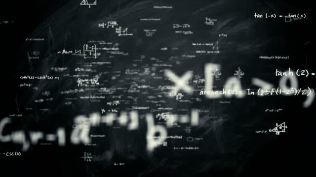 vídeos de stock e filmes b-roll de math formulas loop - fórmula