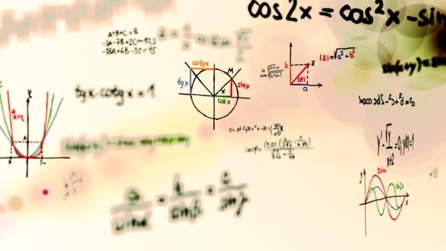 math symbols loop. - mathematics stock videos and b-roll footage