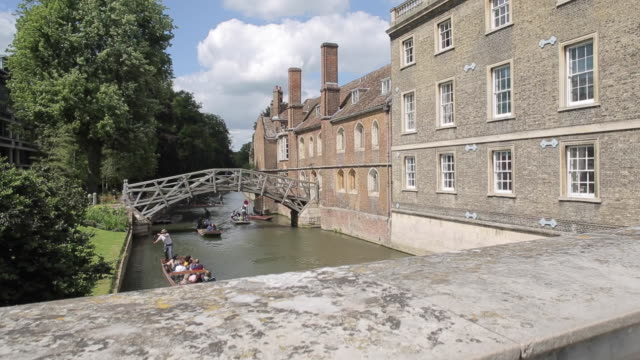 mathematical bridge & river cam, cambridge, cambridgeshire, england, uk, europe - cambridge university stock videos and b-roll footage