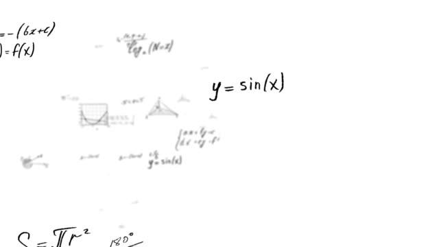 calcoli e formule matematiche - formula video stock e b–roll