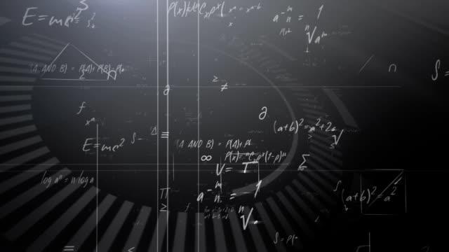 Mathematische Formeln (schwarz)