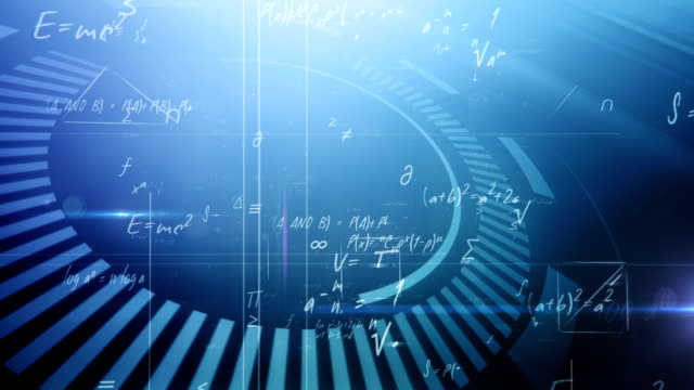 mathematical formulas (blue) - mathematics stock videos and b-roll footage