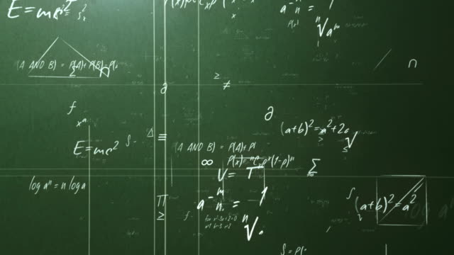 mathematical formulas (green) - blackboard stock videos and b-roll footage
