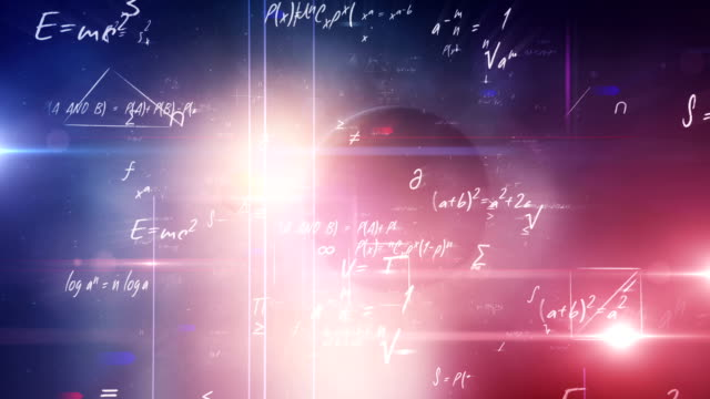 mathematical formulas (universe) - physics stock videos & royalty-free footage