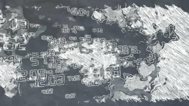 黒板の数学 - 消しゴム点の映像素材/bロール