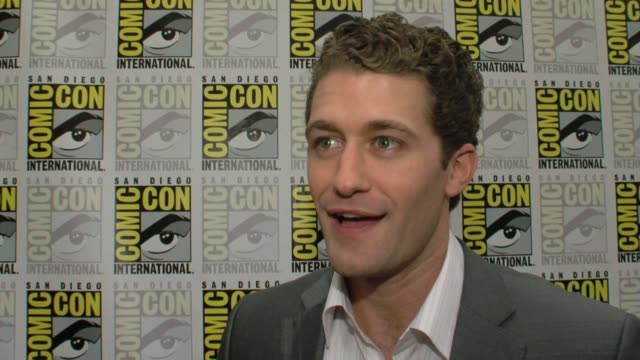 mathew morrison on his character on glee and on if he was in glee club in high school at the comiccon 2009 glee press line at san diego ca - glee tv show stock videos and b-roll footage