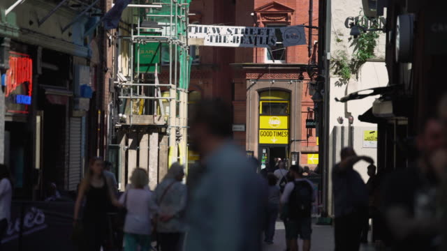 mathew street, liverpool - high street stock videos & royalty-free footage