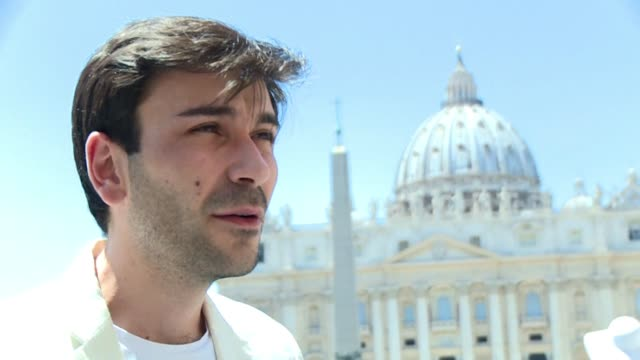 mathieu de la souchere one of the complainants accusing the vatican ambassador to france bishop luigi ventura of sexual assault came to the vatican... - diplomacy stock videos & royalty-free footage