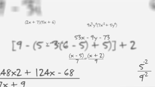 maths equation on white background - formula stock videos & royalty-free footage