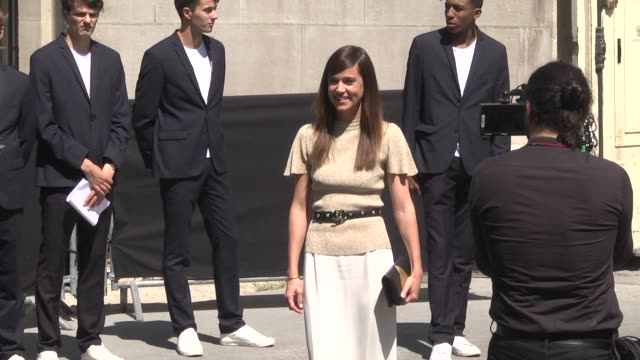 matilda lutz attends the chanel showl as part of paris fashion week - haute couture fall winter 2020 at grand palais on july 02, 2019 in paris, france - grand palais stock videos & royalty-free footage