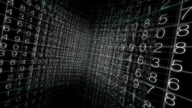 Matrix Grid Numbers background