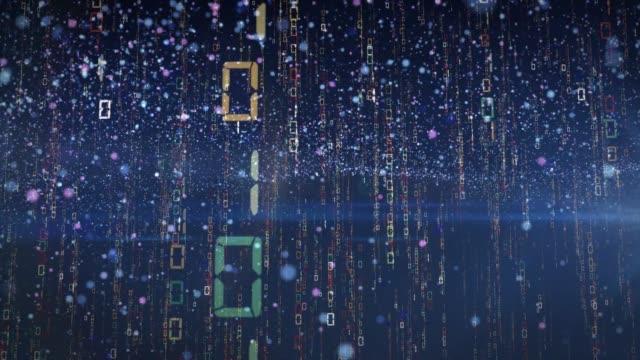 vídeos de stock e filmes b-roll de matrix of japanese raining code - linguagem informática
