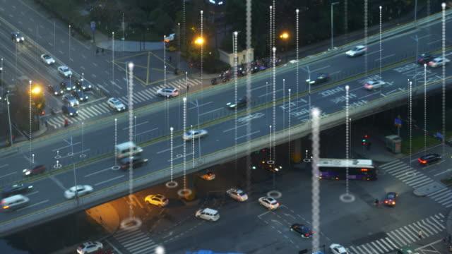 matrix over smart transportation - global positioning system stock videos & royalty-free footage