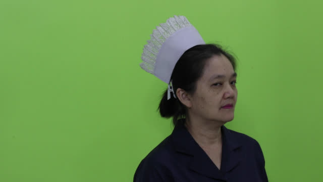 matron nurse - chroma key - nurse cap stock videos & royalty-free footage