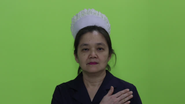 matron nurse - chroma key - hat stock videos & royalty-free footage