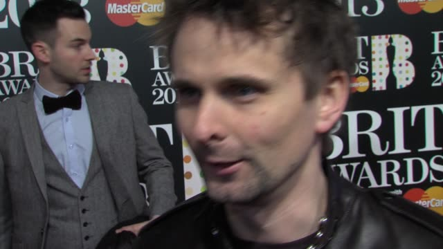 INTERVIEW Matt Bellamy on opening The Brits the performance playing at London 2012 The BRIT awards UK music at The BRIT Awards Arrivals at O2 Arena...