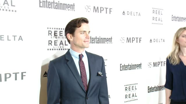 matt bomer at 5th annual reel stories real lives benefiting the motion picture television fund in los angeles ca - motion picture & television fund stock videos & royalty-free footage