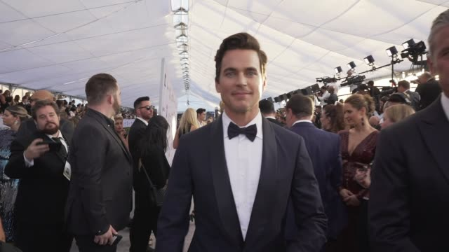 stockvideo's en b-roll-footage met matt bomer at the 25th annual screen actors guild awards social ready content at the shrine auditorium on january 27 2019 in los angeles california - screen actors guild