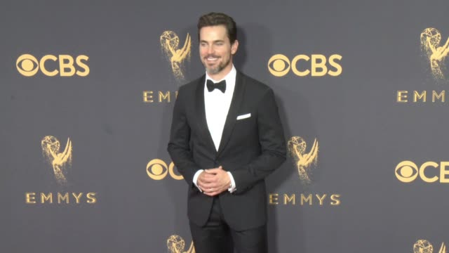 matt bomer at the 69th annual primetime emmy awards at microsoft theater on september 17, 2017 in los angeles, california. - annual primetime emmy awards stock-videos und b-roll-filmmaterial