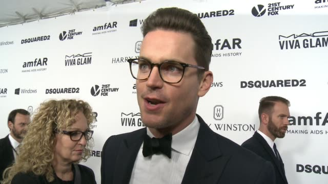 INTERVIEW Matt Bomer on why it was important for him to support amfAR at amfAR's Inspiration Gala Los Angeles 2015 in Los Angeles CA