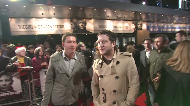 matt cardle at the girl with the dragon tattoo world premiere at odeon leicester square on december 12 2011 in london england - the girl with the dragon tattoo stock videos and b-roll footage