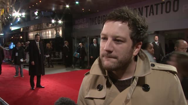 matt cardle on dave fincher his mum being a fan of the books the appeal of british actors success his approach to writing music at the girl with the... - the girl with the dragon tattoo stock videos and b-roll footage