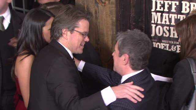 Matt Damon and guests at the 'True Grit' New York Premiere at New York NY