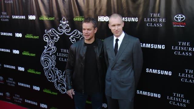 Matt Damon and Jason Mann at Matt Damon Ben Affleck Adaptive Studios And HBO Present The Project Greenlight Season 4 Winning Film The Leisure Class...