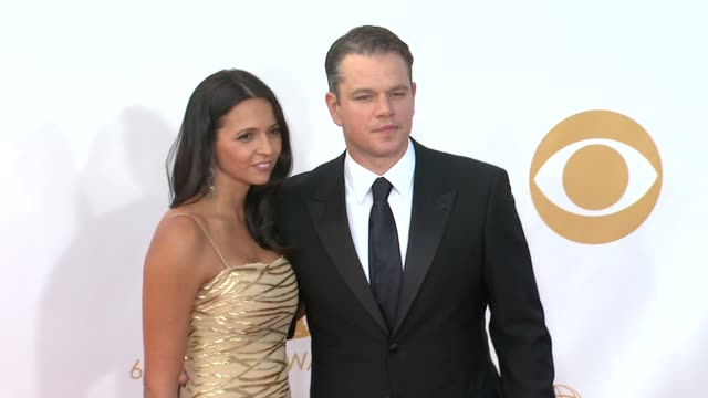 Matt Damon and Luciana Damon at 65th Annual Primetime Emmy Awards Arrivals Matt Damon and Luciana Damon at 65th Annual Prim at Nokia Theatre LA Live...