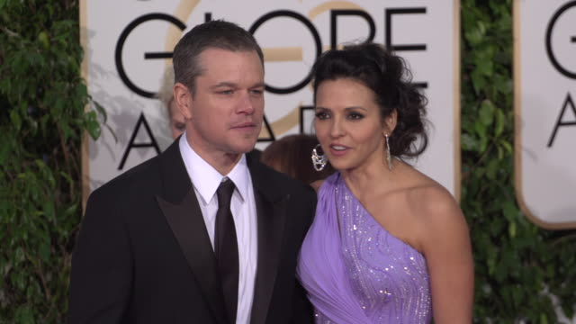 matt damon and luciana damon at the 73rd annual golden globe awards arrivals at the beverly hilton hotel on january 10 2016 in beverly hills... - matt damon stock videos and b-roll footage