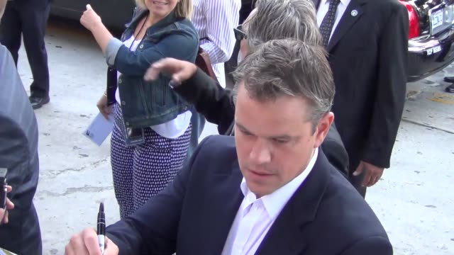 matt damon arrives at the elysium premiere in westwood 08/07/13 matt damon arrives at the elysium premiere in west on august 07 2013 in los angeles... - matt damon stock videos and b-roll footage