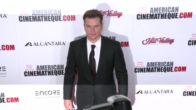 matt damon at 30th annual american cinematheque awards gala in los angeles ca - matt damon stock videos and b-roll footage