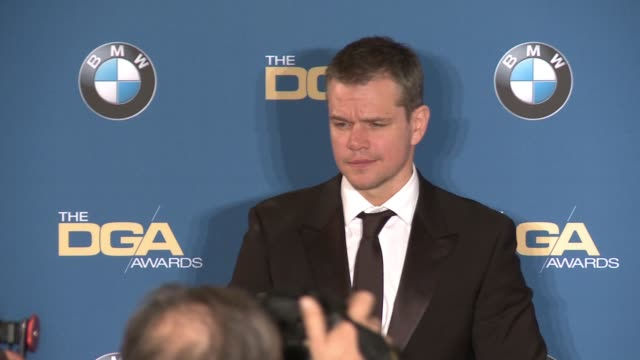 matt damon at 68th annual directors guild of america awards in los angeles ca - matt damon stock videos and b-roll footage
