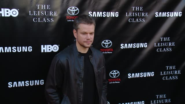 matt damon at matt damon ben affleck adaptive studios and hbo present the project greenlight season 4 winning film the leisure class at the theatre... - matt damon stock videos and b-roll footage