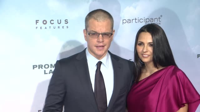 matt damon at promised land new york premiere presented by focus features at amc loews lincoln square 13 theater on december 04 2012 in new york new... - amc loews stock videos and b-roll footage